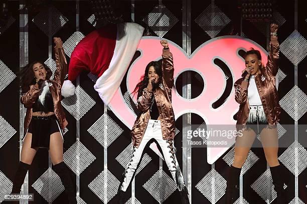 Lauren Jauregui Camila Cabello and Dinah Jane Hansen of Fifth Harmony perform onstage at Hot 995's Jingle Ball 2016 at Verizon Center on December 12...