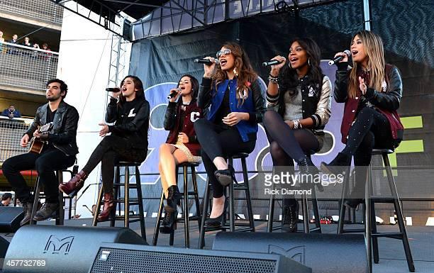 "Lauren Jauregui Camila Cabello Dinah Jane Hansen Normani Kordei and Ally Brooke of Fifth Harmony perform at 933 FLZ's Jingle Ball ""PreShow Free Show""..."