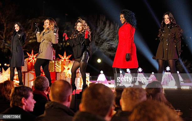 Lauren Jauregui Dinah Jane Hansen Ally Brooke Normani Hamilton and Camila Cabello of 5th Harmony attend the 2014 National Christmas Tree Lighting...