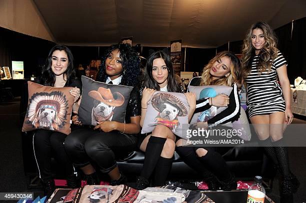 "Lauren Jauregui, Normani Hamilton, Camila Cabello, Dinah Jane Hansen and Ally Brooke of ""5th Harmony"" attend the 2014 American Music Awards UPS..."