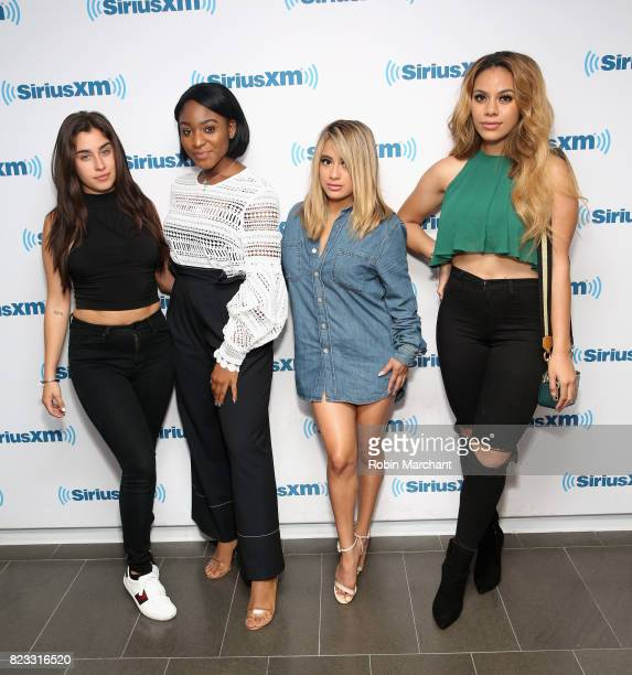 Lauren Jauregui Normani Kordei Ally Brooke Hernandez and Dinah Jane Hansen of Fifth Harmony visit at SiriusXM Studios on July 25 2017 in New York City