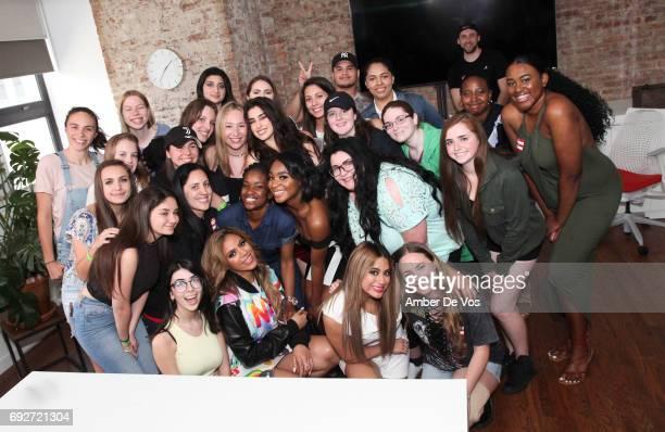 Lauren Jauregui, Normani Kordei, Dinah Jane, Ally Brooke of Fifth Harmony and Super Fans attend Tumblr x Fifth Harmony Fan Event at Tumblr HQ on June...