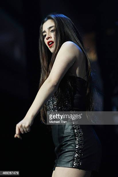Lauren Jauregui of Fifth Harmony performs onstage during The Neon Lights Tour held at Honda Center on February 13 2014 in Anaheim California