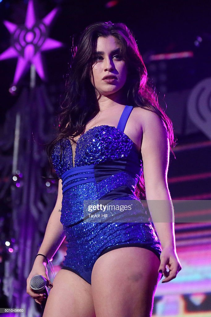 Lauren Jauregui performs during the 2015 Z100 Jingle Ball at Madison Square Garden on December 11, 2015 in New York City.