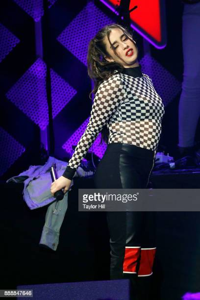 Lauren Jauregui performs during the 2017 Z100 Jingle Ball at Madison Square Garden on December 8 2017 in New York City