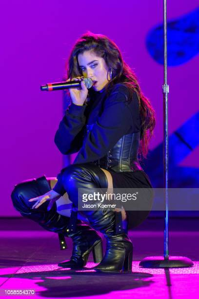 Lauren Jauregui performs on stage at the MTV 1 The Vote 'Election Afterparty' at Miami Dade College on November 6 2018 in Miami Florida