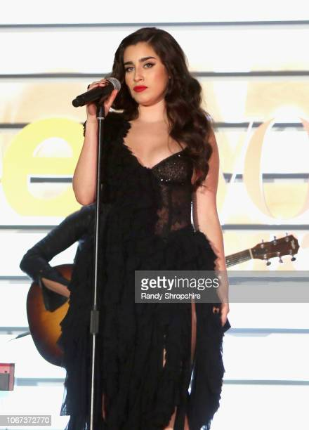Lauren Jauregui performs onstage during The Teen Vogue Summit 2018 at 72andSunny on December 1 2018 in Los Angeles California