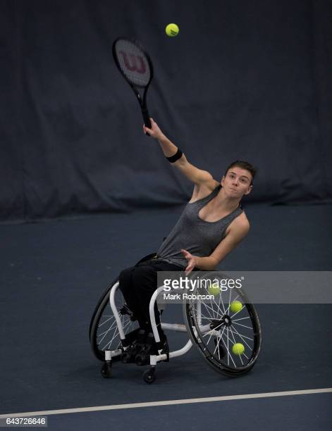 Lauren Jones from Great Britain during her match against Lucy Shuker from Great Britain on February 22 2017 in Bolton England