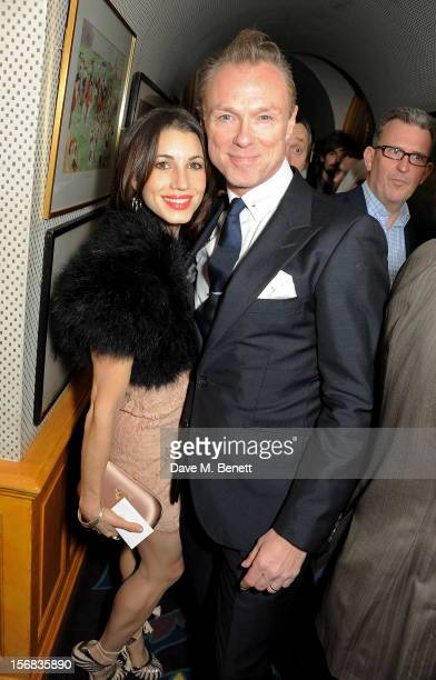 LONDON ENGLAND NOVEMBER Lauren Kemp and Gary Kemp attend a launch hosted by The Vinyl Factory of Bryan Ferry's new album 'The Jazz Age' at Annabelson...