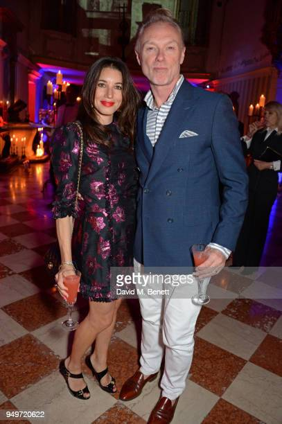 Lauren Kemp and Gary Kemp attend a party to celebrate Nefer Suvio's birthday hosted by The Count and Countess Francesco Chiara Dona Dalle Rose at...