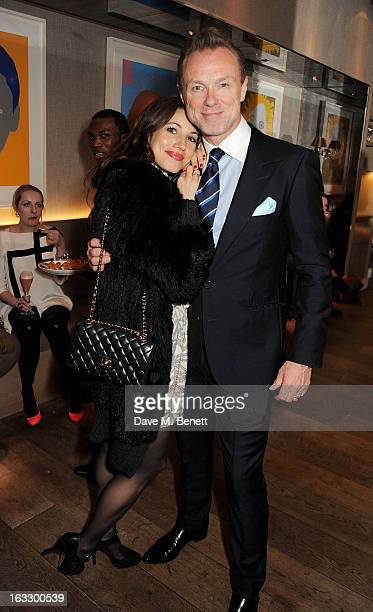 Lauren Kemp and Gary Kemp attend an after party celebrating Duran Duran keyboardist Nick Rhodes' exhibition 'BEI INCUBI Beautiful Nightmares' at...