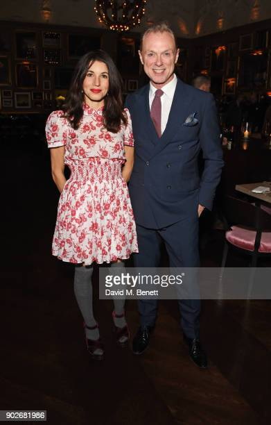 Lauren Kemp and Gary Kemp attend the GQ London Fashion Week Men's 2018 closing dinner hosted by Dylan Jones and Rita Ora at Berners Tavern on January...