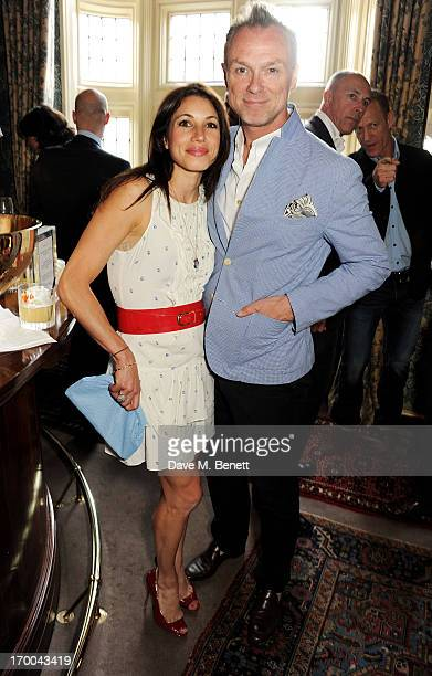Lauren Kemp and Gary Kemp attend the launch of 'The Eighties One Day One Decade' by GQ editor Dylan Jones at Mark's Club on June 6 2013 in London...