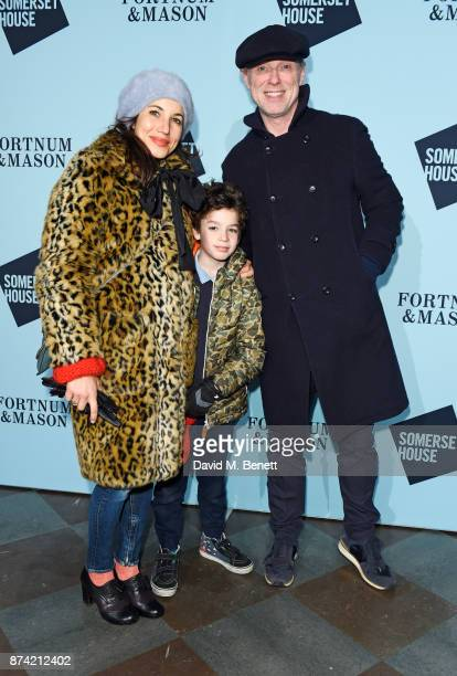 Lauren Kemp and Gary Kemp attend the opening party of Skate at Somerset House with Fortnum Mason on November 14 2017 in London England London's...