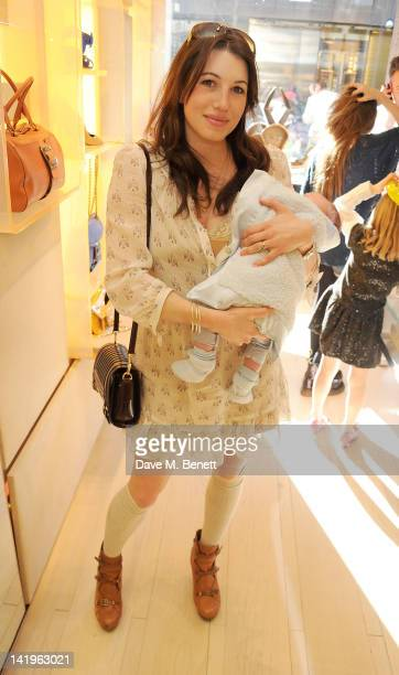 Lauren Kemp attends a children's afternoon tea party hosted by Roger Vivier to launch their new Jeune Fille collection for girls at their Sloane...