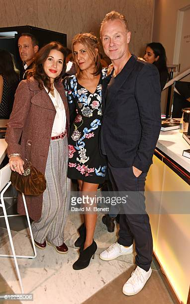 Lauren Kemp Azzi Glasser and Gary Kemp attend the launch of 'SX Rankin' a new fragrance collaboration between photographer Rankin and fragrance...