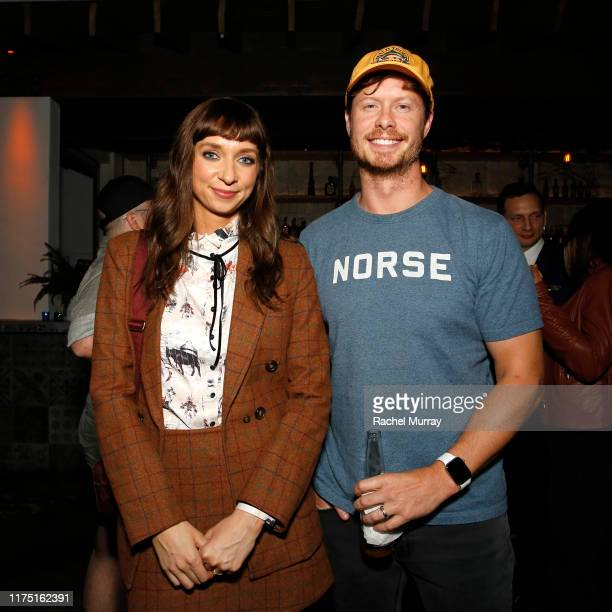 Lauren Lapkus and Anders Holm attend Netflix's special screening of Between Two Ferns The Movie on September 16 2019 in Los Angeles California