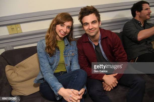 Lauren Lapkus and Drew Tarver attend Comedy Bang Bang at BAM presented by Vulture Festival on May 20 2017 in New York City