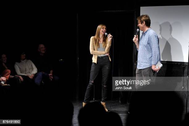 Lauren Lapkus and Pete Holmes speak onstage at Comedians You Should Will Know hosted By Pete Holmes and the cast of HBO's Crashing during Vulture...