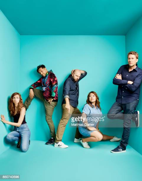 Lauren Lapkus Howard Kremer Paul Scheer Scott Auckerman and Kulap Vilaysack from Earwolf Podcast Panel are photographed for Entertainment Weekly...