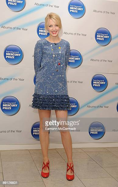 Lauren Laverne hosts the nominations for the 2009 Barclaycard Mercury Prize at The Hospital on July 21 2009 in London England
