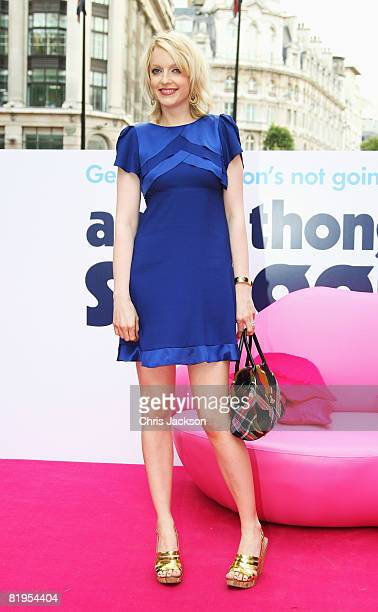 Lauren Laverne poses for a photograph at the Empire Leicester Square during the UK premiere of the film, Angus, Thongs and Perfect Snogging on July...