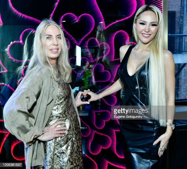Lauren Lawrence and Lillian Gorbachincky attend the Andrea Bocelli Foundation Lillian Gorbachincky Present First Annual Luncheon at AD Building on...