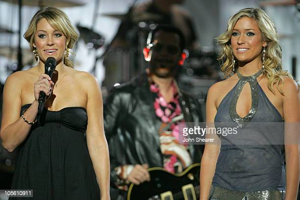Lauren 'LC' Conrad and Kristin Cavallari introduce INXS's performance