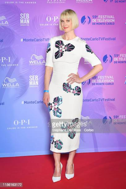 Lauren Lee Smith arrives at the 59th Monte Carlo TV Festival TV Series Party on June 15 2019 in MonteCarlo Monaco