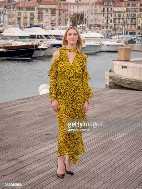 Lauren Lee Smith attend the Frankie Drake Mysteries photocall as part of the MIPCOM 2018 on October 15 2018 in Cannes France