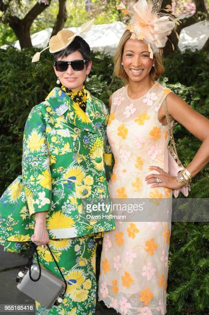Lauren Levison and Dr Shirley Madhere attend 36th Annual Frederick Law Olmsted Awards Luncheon Central Park Conservancy at The Conservatory Garden in...