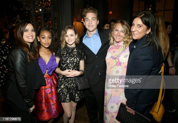 Lauren Levy Neustadter Lexi Underwood Megan Stott Jordan Elsass Liz Tigelaar and Pilar Savone attend the Hulu LA Press Party 2019 at Spago on...
