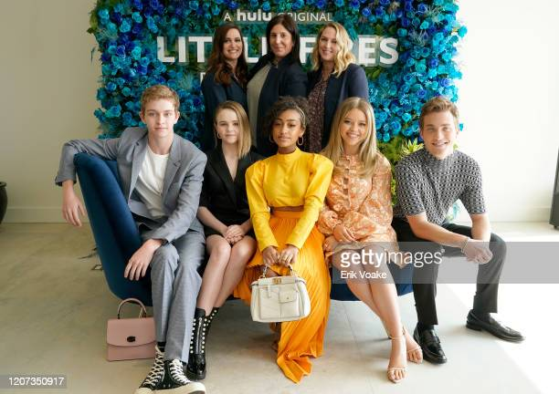 Lauren Levy Neustadter Pilar Savone and Liz Tigelaar Gavin Lewis Lexi Underwood Jade Pettyjohn Megan Stott and Jordan Elsass attend Hulu Little Fires...