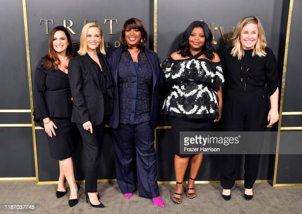 Lauren Levy Neustadter Reese Witherspoon Nichelle D Tramble Octavia Spencer and Kristen Campo attend the Premiere of Apple TV's Truth Be Told at...