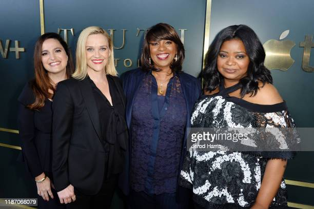 Lauren Levy Newstadter Reese Witherspoon Nichelle Tramble Spellman and Octavia Spencer arrive at the premiere of Apple TV's 'Truth Be Told' at AMPAS...