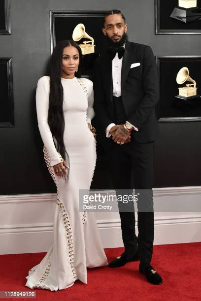 Lauren London and Nipsey Hussle attend the 61st Annual Grammy Awards at Staples Center on February 10 2019 in Los Angeles California