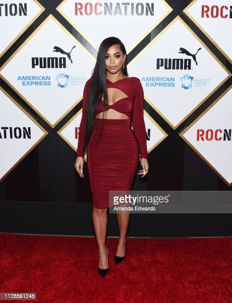 Lauren London arrives at the 2019 Roc Nation THE BRUNCH on February 09 2019 in Los Angeles California