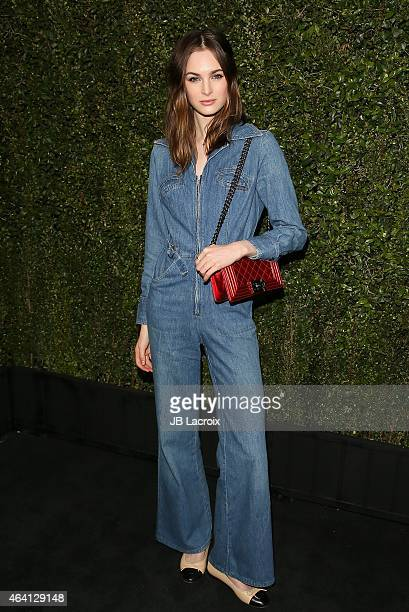 Lauren Love attends the Chanel And Charles Finch PreOscar Dinner at Madeo Restaurant on February 21 2015 in West Hollywood California