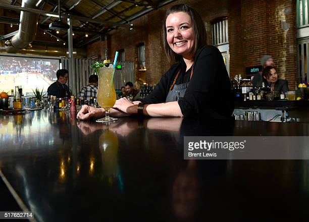 Lauren Lowe at the RiNo Yacht Club on March 25, 2016 in Westminster, Colorado. Lowe has been selected as one of the top bartenders in Denver.