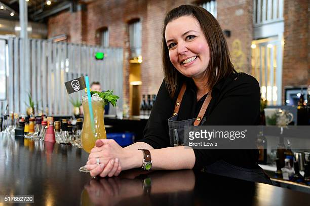 Lauren Lowe at the RiNo Yacht Club on March 25 2016 in Westminster Colorado Lowe has been selected as one of the top bartenders in Denver