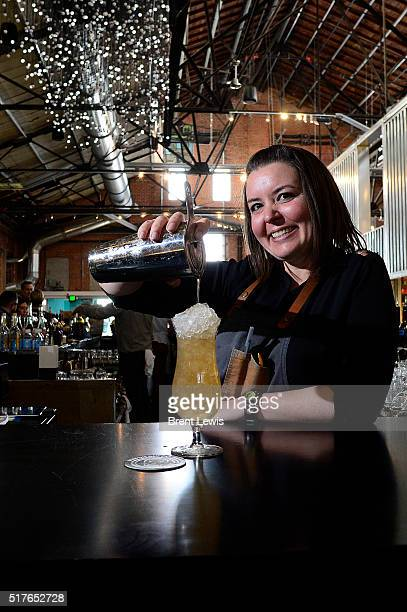 Lauren Lowe pours a drink at the RiNo Yacht Club on March 25, 2016 in Westminster, Colorado. Lowe has been selected as one of the top bartenders in...