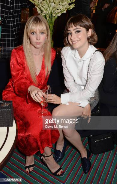 Lauren Lyle and Ellise Chappell attend the European launch of WOMAN by Ralph Lauren hosted by Jessica Chastain at Isabel on September 14 2018 in...