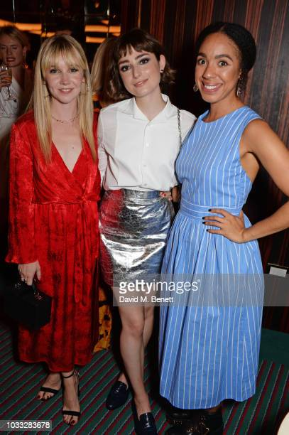 Lauren Lyle Ellise Chappell and Pearl Mackie attend the European launch of WOMAN by Ralph Lauren hosted by Jessica Chastain at Isabel on September 14...