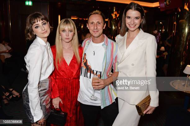 Lauren Lyle Ellise Chappell guest and Margaret Clunie attend the European launch of WOMAN by Ralph Lauren hosted by Jessica Chastain at Isabel on...