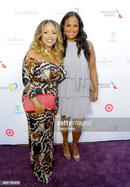 Lauren Mac and Laila Ali attend the HollyRod 20th Annual DesignCare at Cross Creek Farm on July 14 2018 in Malibu California
