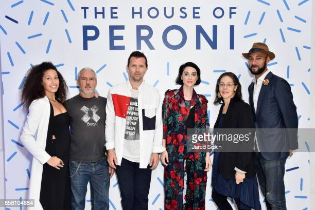 Lauren Machen Fabio Paleari Robert Montgomery Annie Clark AnnieB Parson and Brandon Franklin attend St Vincent Peroni Nastro Azzurro Unveil Second...