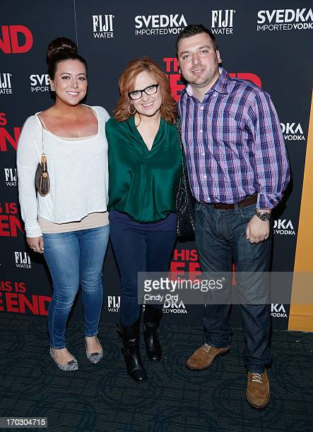 Lauren Manzo Caroline Manzoa and Christopher Manzo attend This Is The End New York Premiere at Sunshine Landmark on June 10 2013 in New York City