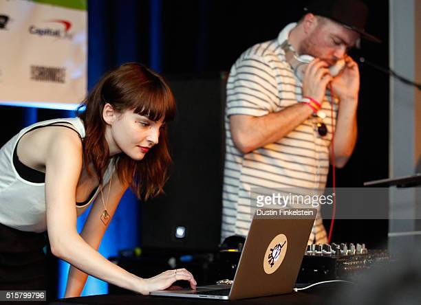 Lauren Mayberry and Martin Doherty of CHVRCHES perform onstage at the SXSW Music Opening Party during the 2016 SXSW Music Film Interactive Festival...