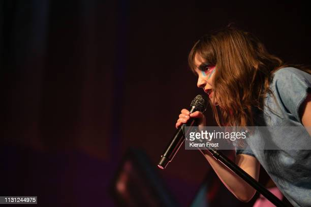 Lauren Mayberry of CHVRCHES at performs at the Olympia Theatre on February 21 2019 in Dublin Ireland