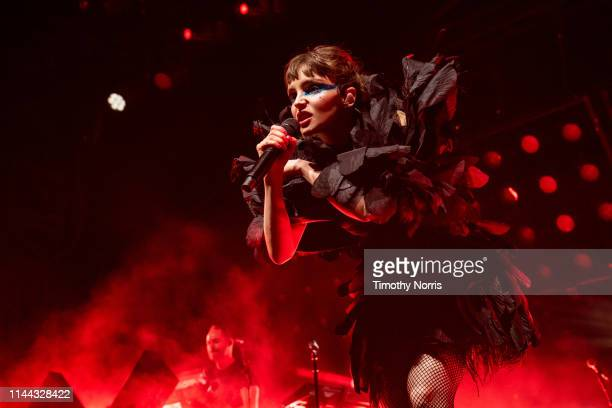 Lauren Mayberry of Chvrches performs during the 2019 Coachella Valley Music And Arts Festival on April 21 2019 in Indio California